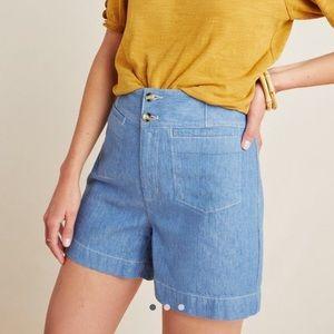 Ella Tailored Denim Shorts NWOT